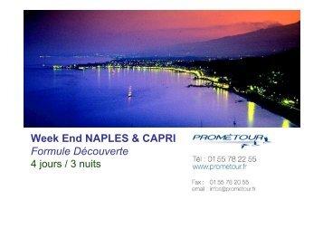 Week End NAPLES & CAPRI Formule Découverte - Prometour