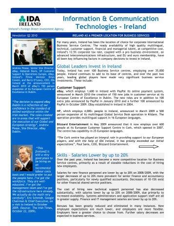 ICT Newsletter 2010 – Business Services - IDA Ireland
