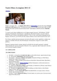 Teatro Eliseo: la stagione 2011-12 - Fondazione Univerde