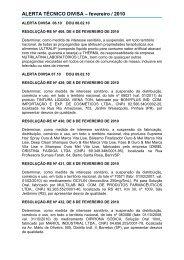 ALERTA TÉCNICO DIVISA – fevereiro / 2010