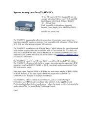 System Analog Interface (VA6834FC) - AVsuperstore.com