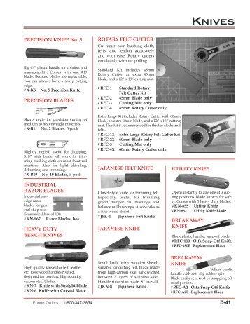 knives & saws view catalog - Pianotek Supply Company