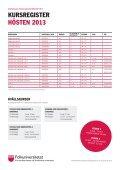 Kursregister Hösten 2013 (pdf) - Folkuniversitetet - Page 2