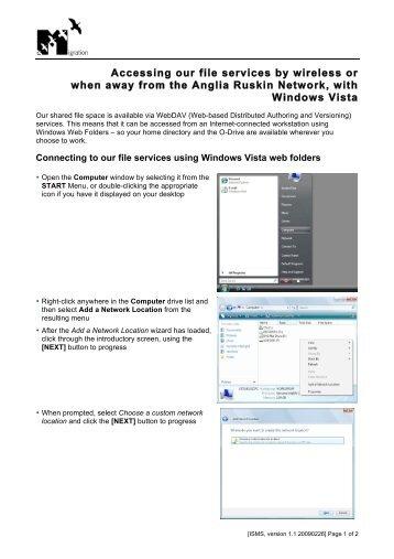 PC access, filestore - My.Anglia Homepage - Anglia Ruskin University