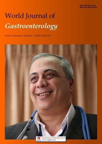 Ghrelin's second life - World Journal of Gastroenterology