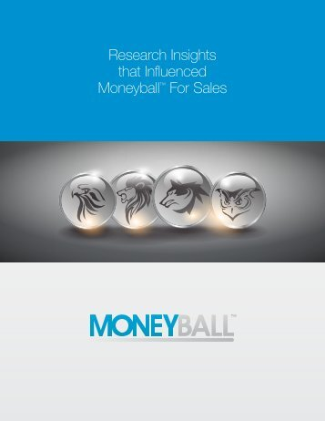 Research Insights that Influenced Moneyball™ For Sales