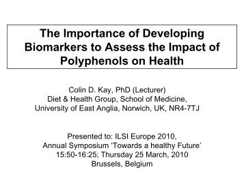 The importance of developing biomarkers to assess the impact of ...