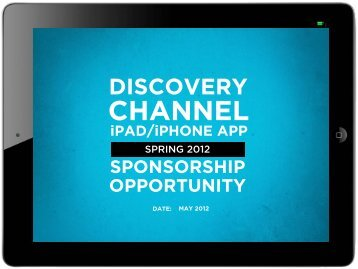 DISCOVERY CHANNEL iPAD/iPHONE APP - Bell Media
