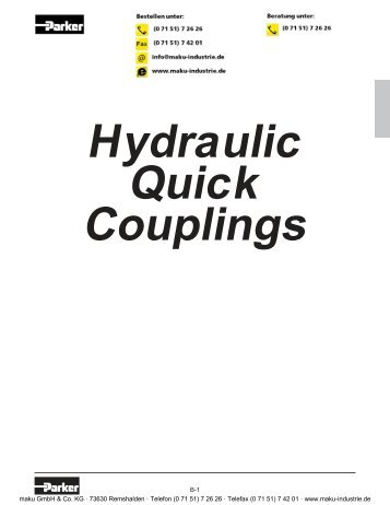 Hydraulic Quick Couplings - Parker