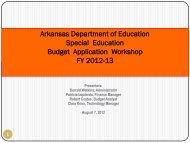 Finance Budget Workshop Powerpoint - ADE Special Education