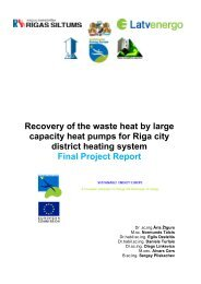 Recovery of the waste heat by large capacity heat pumps for Riga ...