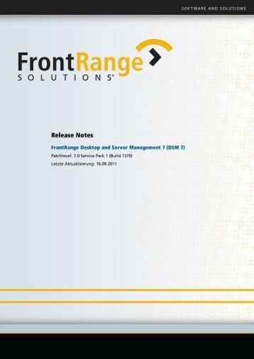 DSM7_Service Pack 1_ReleaseNotes - JevoTrust Management AG