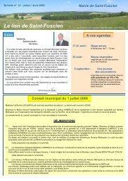 Lien n°14 - juillet 2009 - Saint-Fuscien