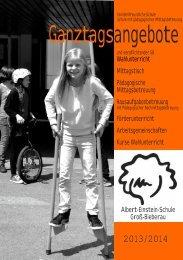 Broschüre Ganztagsangebote Schuljahr 2013/14 - Albert-Einstein ...
