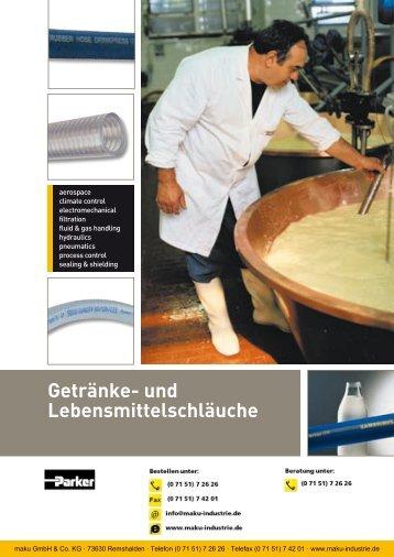 Katalog: 73-4100-DE Getränke- und Lebensmittelschläuche - Parker