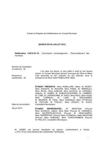 Commission d'aménagement renouvellement - Ville de Palaiseau
