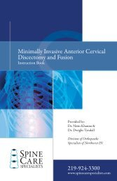 Minimally Invasive Anterior Cervical Discectomy and Fusion