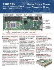 TSB7053 Sandy Bridge Multi Core Industrial System ... - Chassis Plans