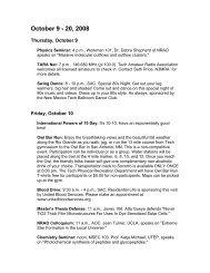 October 19 - 20, 2008 - New Mexico Tech
