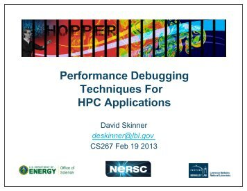 Performance Debugging Techniques for HPC Applications (pdf)