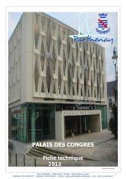 Fiche technique du Palais des Congrès - Communauté de ...