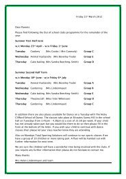 Friday 23rd March 2012 Dear Parents Please find ... - Silcoates School