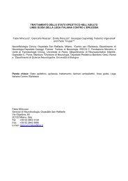 Trattamento dello stato epilettico nell'adulto - Lice