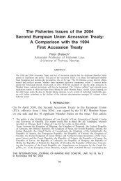 The Fisheries Issues of the 2004 Second ... - IngentaConnect