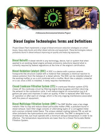 Diesel Engine Technologies Terms and Definitions - Clean Energy ...