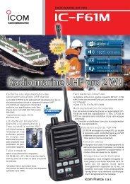 Documentation commerciale IC-F61M Radio Marine ... - Icom France