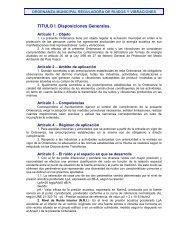 ordenanza municipal reguladora de ruidos y vibraciones