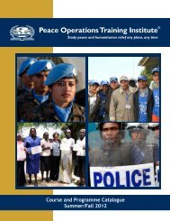 Download - Peace Operations Training Institute
