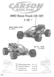 Page 1 M@@EÈ §IÍD@ÜRÍ 4WD Race-Truck C MAX 18XXL RTR ...