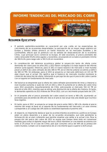 INFORME TENDENCIAS DEL MERCADO DEL COBRE - Comisión ...