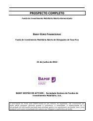 BANIF EURO FINANCEIRAS - Prospecto Completo