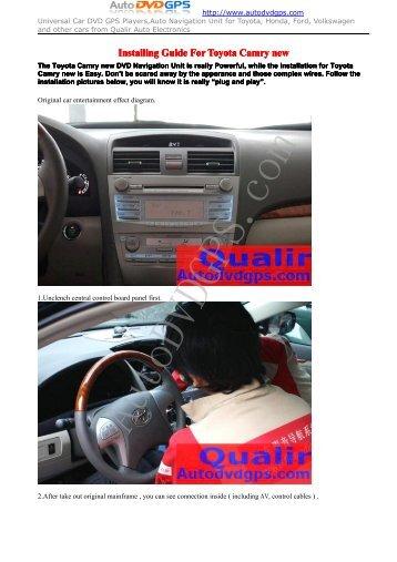 Toyota Camry New DVD GPS Navigation System - Car DVD Player