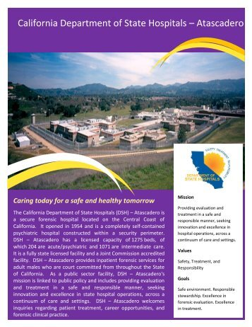 Atascadero Flyer - Dept of State Hospitals - State of California