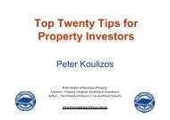 TT Ti f Top Twenty Tips for P t I t Property Investors - Property Professor