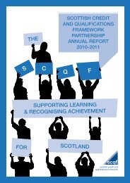 SCQF Annual Report 2.. - Scottish Credit and Qualifications ...