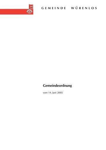 Gemeindeordnung - Gemeinde Würenlos