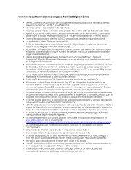 Condiciones y Restricciones campana Navidad Digital Básica