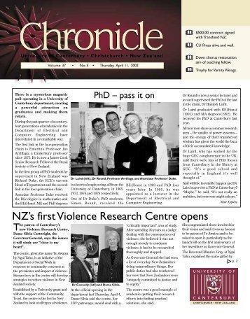 No 5 April 11 2002 - Communications - University of Canterbury