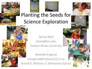 Planting the Seeds for Science Exploration - Eastern Illinois University