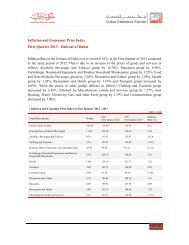 Inflation and Consumer Price Index First Quarter 2013 - Emirate of ...