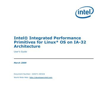 Intel(R) Integrated Performance Primitives for Linux* OS on IA-32 ...
