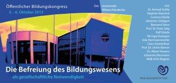 Die Befreiung des Bildungswesens - Montessori Europe