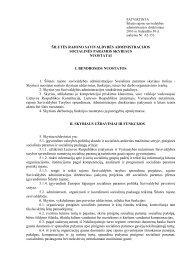 Socialinės paramos skyriaus nuostatai - Šilutės rajono savivaldybė