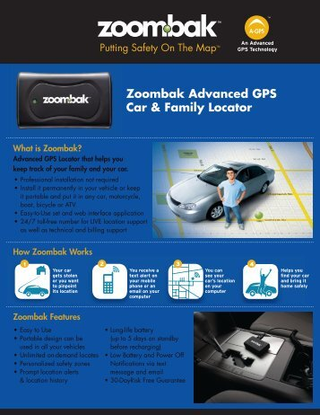 Zoombak Advanced GPS Car & Family Locator