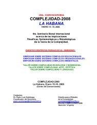 CONVOCATORIA Y PROGRAMA - Red Cubana de la Ciencia
