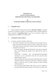 submission to consultation paper on proposed spectrum policy